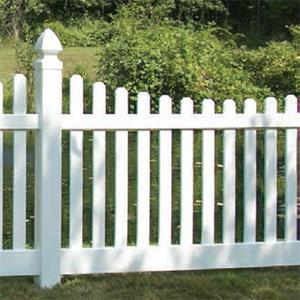 Ranch Style Vinyl Picket Fence Installation MN