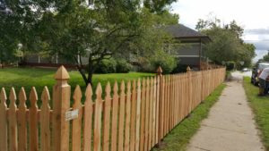 Decorative Wooden Picket Fence