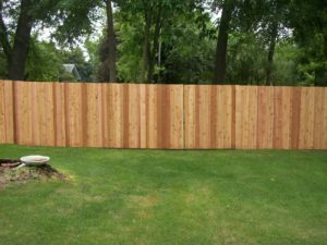 Cedar and other Wood Fences Installed near Spring Lake Park, MN