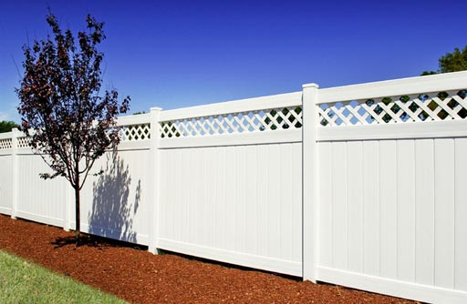 Image of a commercial privacy fence after installed