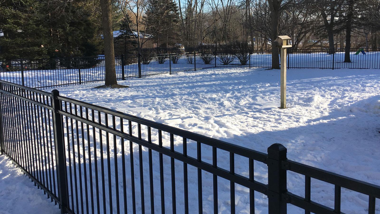 Winter Installs<!--Classic Steel Fences-->