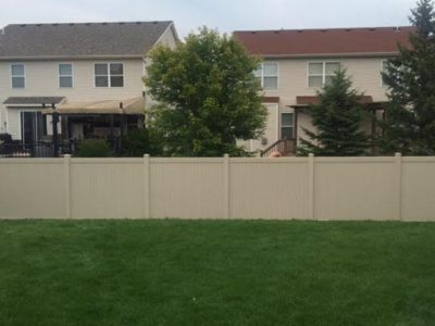 Image of a new fence after installation