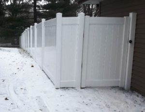 No concrete Fence Installation