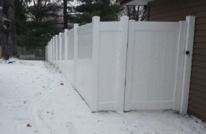 Winter Privacy Fence Installation Company