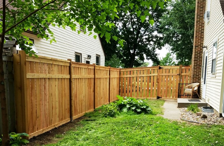 Wood Fence Installation Blaine MN