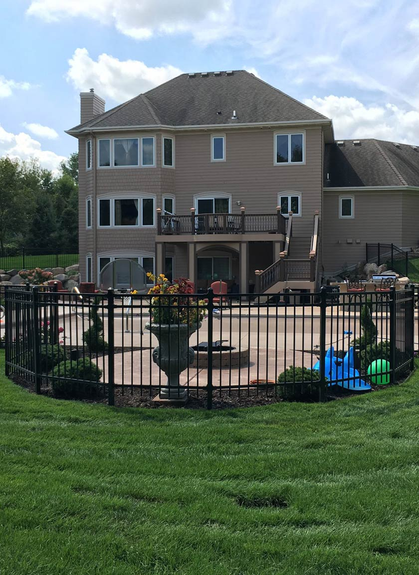 Steel Ornamental Fencing System installed by Twin Cities Fence: Fence Contractor in MN