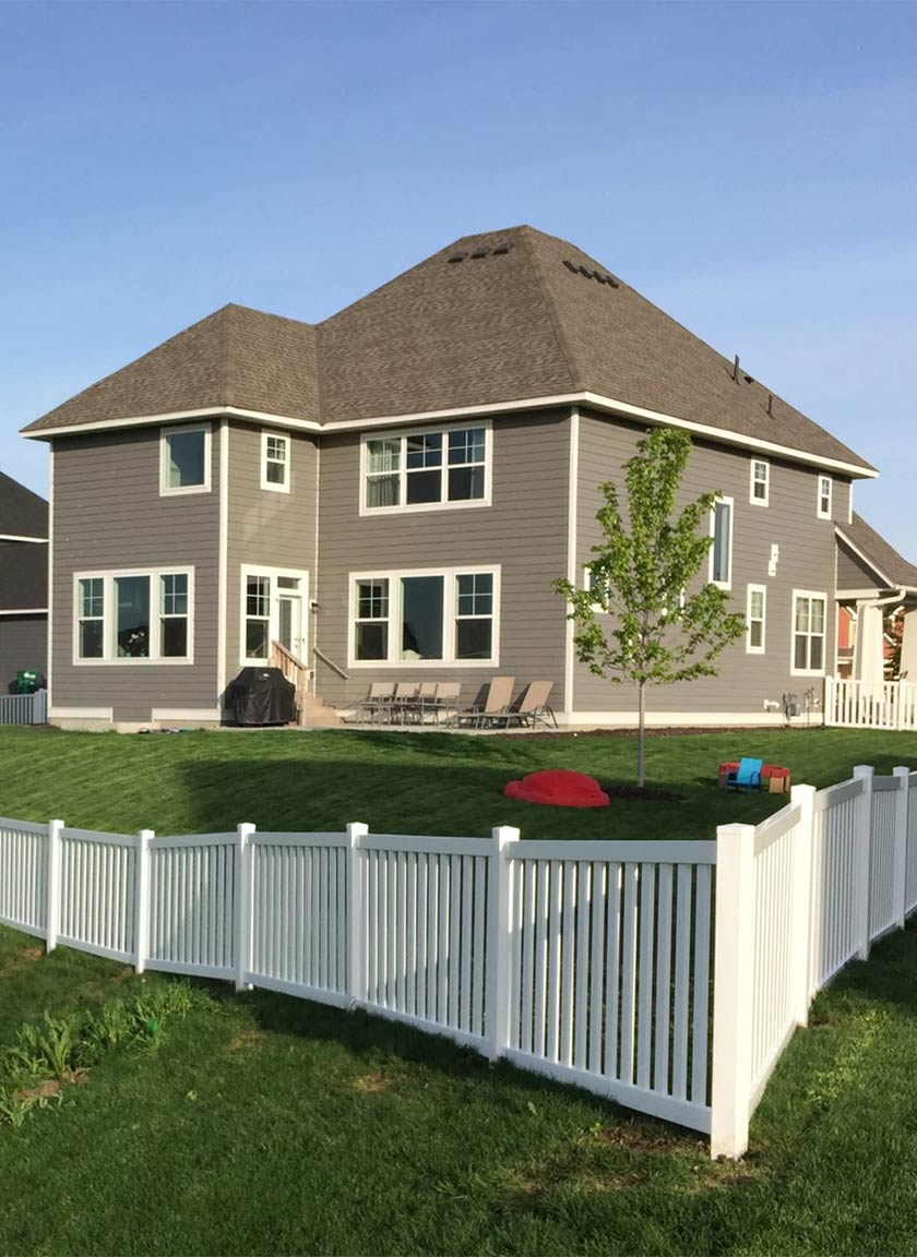 Maintenance Free Vinyl Fencing System installed by Twin Cities Fence: Fence Contractor in MN