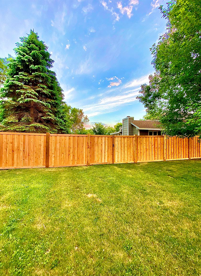 Cedar Wood Fencing System installed by Twin Cities Fence: Fence Contractor in MN