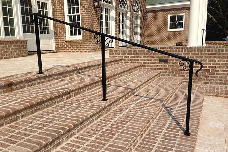 Wrought Iron Hand Rail System installed by Twin Cities Fence: Fence Contractor in MN